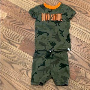 Dinosaur shorts pajama set